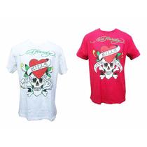 4 Camisetas Ed. Hardy No Tamanho:l Ponta De Estoque Revenda