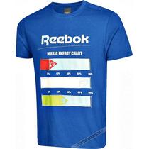 Camiseta Masculina Reebok Original Azul Gg Algodão Music