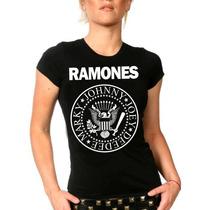 Camiseta Ramones Baby Look Feminina Bandas Rock