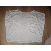 Blusa Branca De Seda Pura Tamanho 38