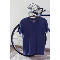 Camiseta Hering Básica Gola V Azul