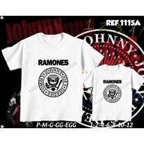 Camisetas Tal Pai Tal Filho Bandas De Rock Ramones