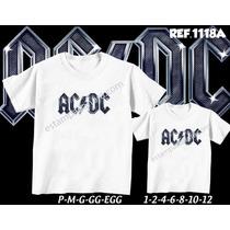Acdc Camisetas Tal Pai Tal Filho Bandas De Rock
