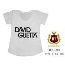 Camiseta David Guetta T-shirts Blusas Femininas Estampas