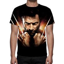 Camisa, Camiseta Wolverine X-men - Estampa Frente E Costa