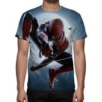 Camisa, Camiseta Homem Aranha - Estampa Frente E Costa
