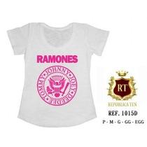 Camiseta Ramones T-shirts Blusas Femininas - Estampas