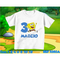 Camiseta Infantil Chapolin Tom E Jerry Garfield Bob Esponja