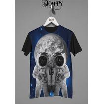 Stompy Camisetas - Skull Space (masculina E Feminina)