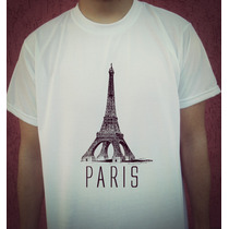 Camiseta Estampada Torre Eiffel - Paris