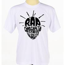 Camisa Camiseta Branca Customizada Estampada Rap Sabotage