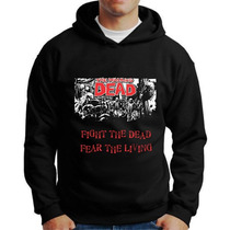 Moletons Twd The Walking Dead Blusa De Frio Com Capuz Bolso