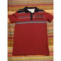Camisa Gola Polo Vermelha Tam. 10 Anos Blusa