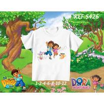 Camiseta Infantil Dora / Galinha Pintadinha/peppa/george Pig