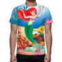 Camisa, Camiseta A Pequena Sereia Disney - Estampa Total