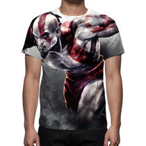 Camisa, Camiseta Game God Of War Kratos - Estampa Total