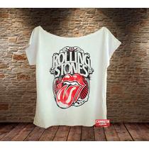 Camiseta Feminina Rolling Stones Língua Vintage