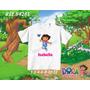 Camiseta Infantil Dora Aventureira Botas Diego Personalizada