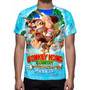 Camisa, Camiseta Game Nintendo Donkey Kong Country Tropical