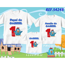 Kit Camisetas Personalizadas Tema Galinha Pintadinha/ Diego