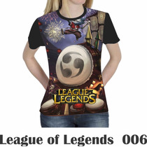 Camiseta Blusa Games League Of Legends Feminina Lol 006