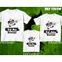 Camisetas Botafogo Carioca Pai Mãe E Filho Kit Com 3 Três