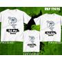 Camisetas Santos Peixe Pai Mãe E Filho Filha Kit Com 3 Três