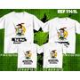 Kit Com 4 Quatro Camisetas Pai Mãe Filhos Corinthians Santos