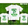 Camisetas Palmeiras Tal Pai Tal Filhos Dois Filhos Kit 3