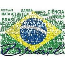 Camiseta Bandeira Do Brasil Estilosa