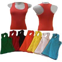 Camiseta Blusa Regata Feminina Nadador Algodao/cotton