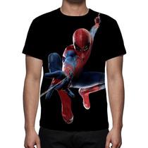 Camisa, Camiseta Homem Aranha Spiderman - Estampa Total