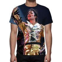 Camisa, Camiseta Michael Jackson - Estampa Total