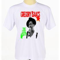 Camiseta Camisa Estampada Cantor Reggae Gregory Isaacs