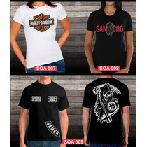 Camiseta / Baby Look Sons Of Anarchy Harley Davidson
