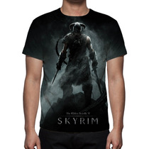 Camisa, Camiseta Game The Elder Scrolls Skyrim Estampa Total