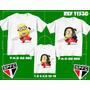 Kit Camisetas Tal Mãe Tal Pai Tal Filho Minions São Paulo
