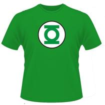 Camiseta Lanterna Verde Super Heróis Batmam Capitão América.