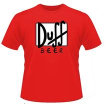 Camisetas Cerveja Duff Homer Simpson Duff Beer Batman Flash