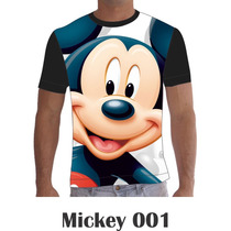 Camisa Camiseta Desenhos Personalizada Mickey Minie Disney