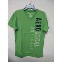 Camiseta Masculina Aeropostale Tam M G Gg Gola V Verde Nova