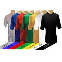 Camiseta 100%poliester Para Sublimação Em Cores Do P Ao Gg