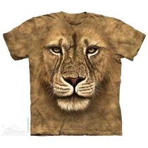 Camiseta Lion Warrior/face De Leão - Infantil - The Mountain