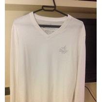 Camiseta Brooksfield Manga Longa Algodao Peruano