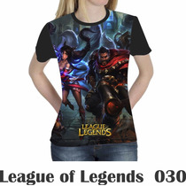 Camiseta Blusa Games League Of Legends Feminina Lol 030