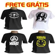 Camiseta Bandas Rock Nirvana Avenged Linkin Park Slipknot