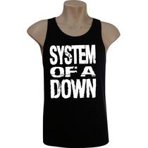 Camiseta Regata Masculina Rock Bandas System Of A Down