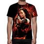 Camisa, Camiseta Jogos Vorazes Chamas - Estampa Total