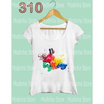Camiseta Blusa Tshirt Feminina Estampa Esmaltes Moda Look