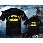 Camisetas Batman Tal Pai Tal Filho Da Hora Super Heróis